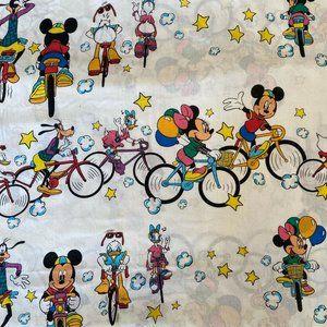 Vtg Disney MICKEY MOUSE & FRIENDS Flat Sheet